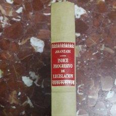 Libros de segunda mano: APÉNDICE AL ÍNDICE PROGRESIVO DE LEGISLACIÓN ARANZADI 1987. Lote 105701183