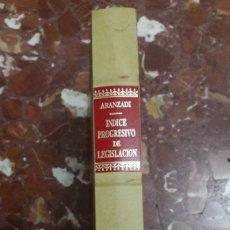 Libros de segunda mano: APÉNDICE AL ÍNDICE PROGRESIVO DE LEGISLACIÓN ARANZADI 1988. Lote 105701250