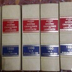 Libros de segunda mano: REPERTORIO CRONOLÓGICO DE LEGISLACIÓN ARANZADI COMPLETO 1990. Lote 105701431