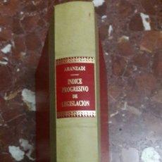 Libros de segunda mano: APÉNDICE AL ÍNDICE PROGRESIVO DE LEGISLACIÓN ARANZADI 1990. Lote 105701438