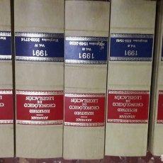 Libros de segunda mano: REPERTORIO CRONOLÓGICO DE LEGISLACIÓN ARANZADI COMPLETO 1991. Lote 105701446
