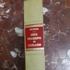 Libros de segunda mano: APÉNDICE AL ÍNDICE PROGRESIVO DE LEGISLACIÓN ARANZADI 1991. Lote 105701451