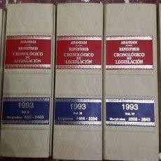 Libros de segunda mano: REPERTORIO CRONOLÓGICO DE LEGISLACIÓN ARANZADI COMPLETO 1993. Lote 105701478