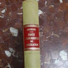 Libros de segunda mano: APÉNDICE AL ÍNDICE PROGRESIVO DE LEGISLACIÓN ARANZADI 1993. Lote 105701484