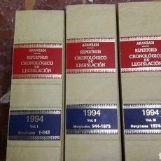 Libros de segunda mano: REPERTORIOCRONOLÓGICO DE LEGISLACIÓN 1994 ARANZADI. Lote 105701487
