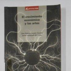 Libros de segunda mano: EL CRECIMIENTO ECONÓMICO Y LAS ARTES. - JOSÉ RAMÓN LASUÉN SANCHO, JAVIER ARANZADI DEL CERRO. TDK329. Lote 106002943
