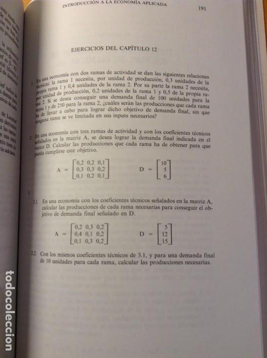 Libros de segunda mano: INTRODUCCION A LA ECONOMIA APLICADA (CANDIDO MUÑOZ CIDAD) ESPASA CALPE - Foto 7 - 106021723