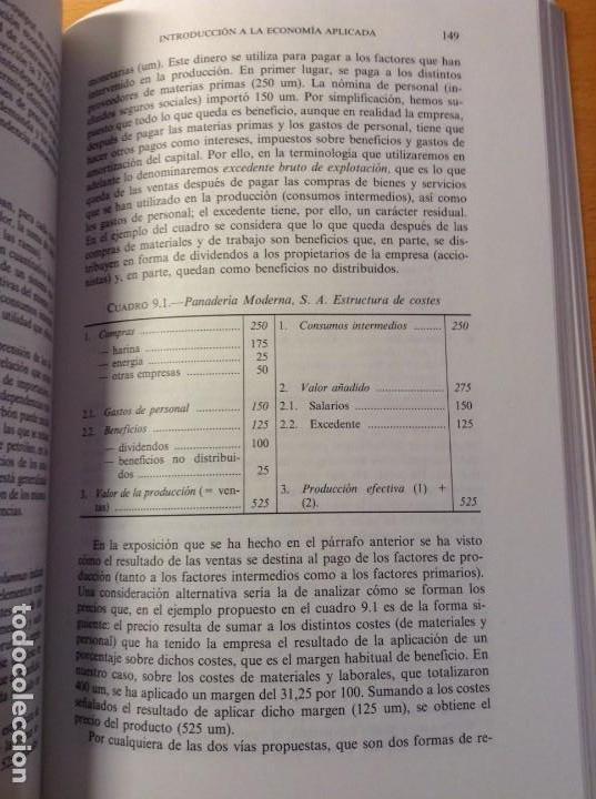 Libros de segunda mano: INTRODUCCION A LA ECONOMIA APLICADA (CANDIDO MUÑOZ CIDAD) ESPASA CALPE - Foto 8 - 106021723
