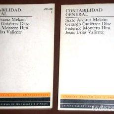 Libros de segunda mano: CONTABILIDAD GENERAL 2T POR JESÚS URÍAS VALIENTE Y OTROS DE ED. UNED EN MADRID 1987. Lote 106631095