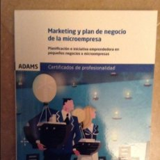 Libros de segunda mano: MARKETING Y PLAN DE NEGOCIO DE LA MICROEMPRESA (ADAMS). Lote 106806215