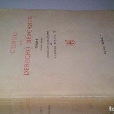 Libros de segunda mano: CURSO DE DERECHO MERCANTIL-JOAQUIN GARRIGUES-TOMO I-IMPRENTA AGUIRRE 1976. Lote 107248231