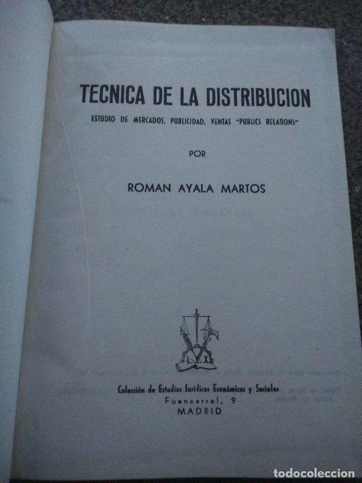 TECNICA DE LA DISTRIBUCION -- ESTUDIO DE MERCADOS, PUBLICIDAD Y VENTAS -- ROMAN AYALA MARTOS -- (Libros de Segunda Mano - Ciencias, Manuales y Oficios - Derecho, Economía y Comercio)