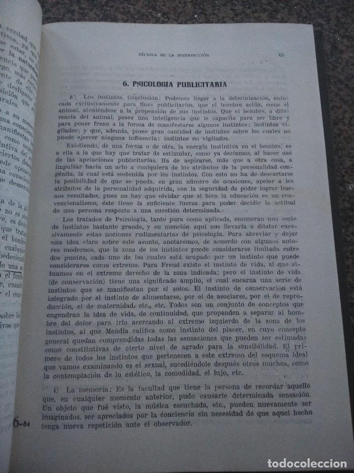 Libros de segunda mano: TECNICA DE LA DISTRIBUCION -- ESTUDIO DE MERCADOS, PUBLICIDAD Y VENTAS -- ROMAN AYALA MARTOS -- - Foto 2 - 107724411