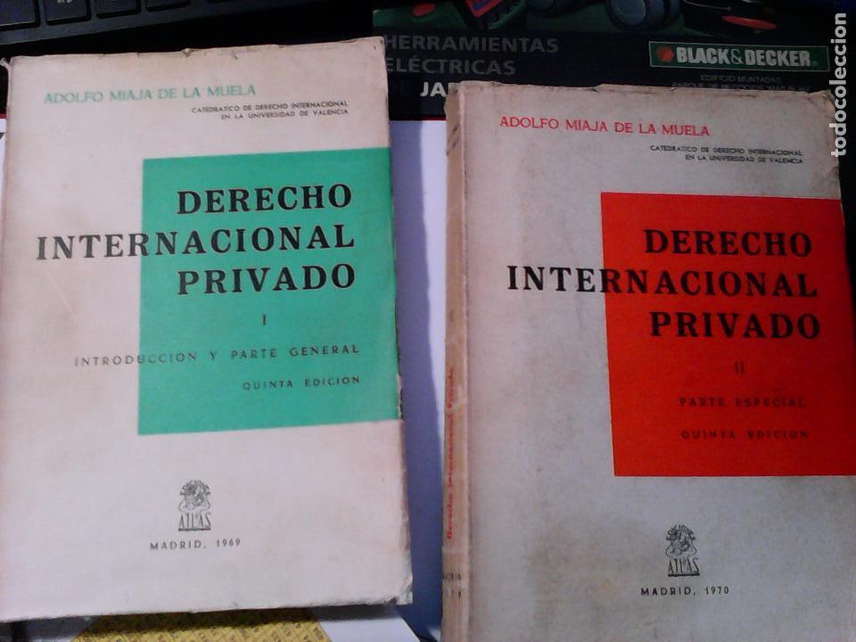 DERECHO INTERNACIONAL PRIVADO (2 TOMOS). AÑO 1969 (Libros de Segunda Mano - Ciencias, Manuales y Oficios - Derecho, Economía y Comercio)