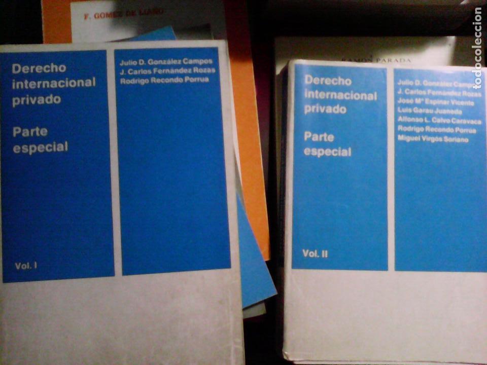 DERECHO INTERNACIONAL PRIVADO. PARTE ESPECIAL (2 TOMOS) (Libros de Segunda Mano - Ciencias, Manuales y Oficios - Derecho, Economía y Comercio)