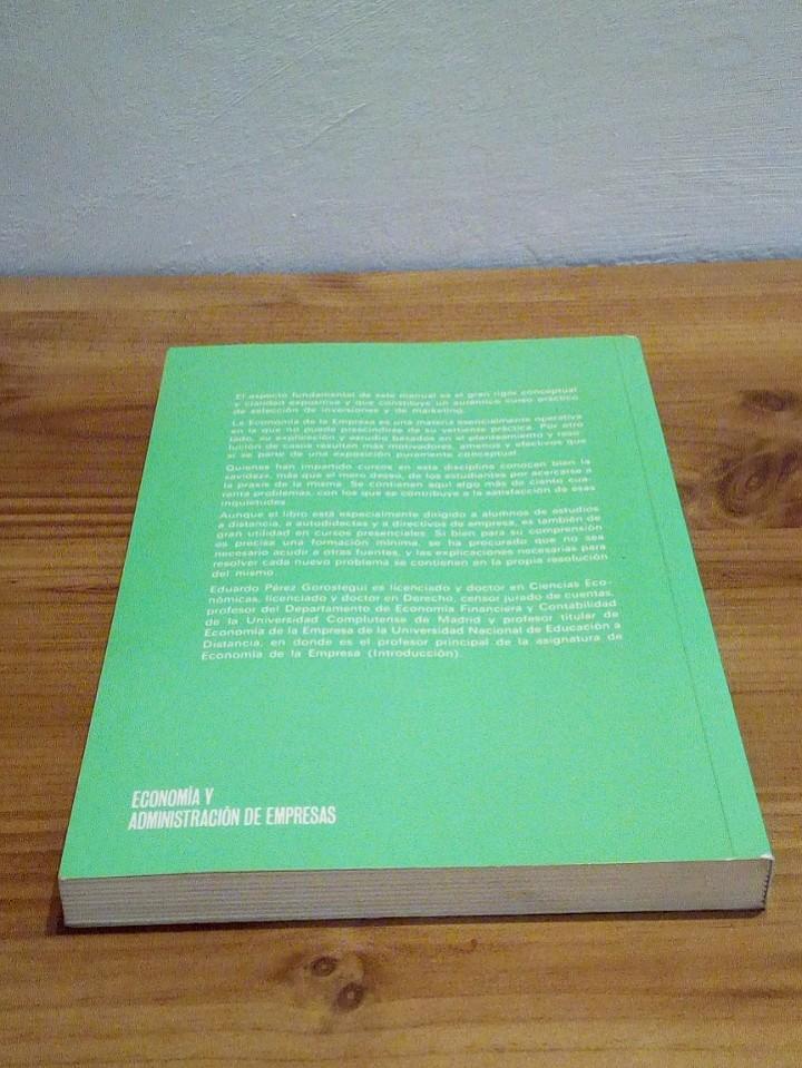 Libros de segunda mano: ECONOMÍA DE LA EMPRESA APLICADA: Selección de inversiones y marketing. Vol I 1998 - Foto 4 - 102556579