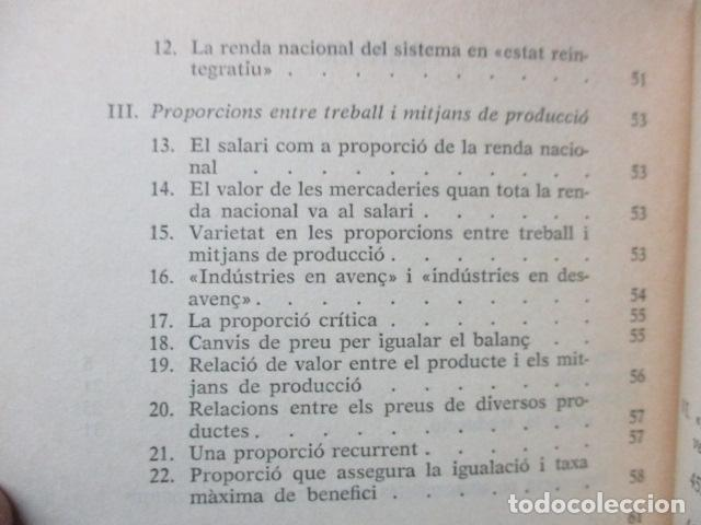 Libros de segunda mano: Producció de mercaderies per mitjà de mercaderies Piero Sraffa Ed 62 Clàssics del pensament modern - Foto 9 - 263100240