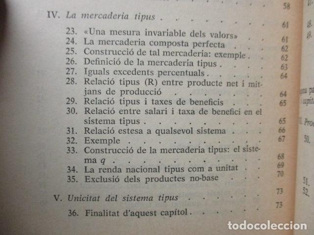 Libros de segunda mano: Producció de mercaderies per mitjà de mercaderies Piero Sraffa Ed 62 Clàssics del pensament modern - Foto 10 - 263100240
