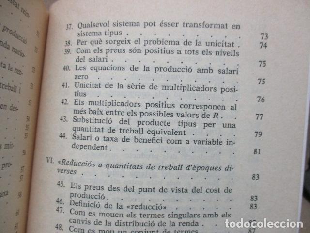 Libros de segunda mano: Producció de mercaderies per mitjà de mercaderies Piero Sraffa Ed 62 Clàssics del pensament modern - Foto 11 - 263100240