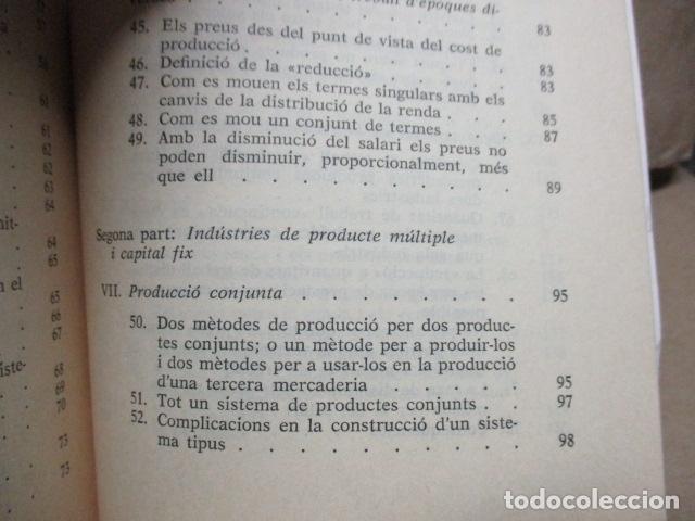Libros de segunda mano: Producció de mercaderies per mitjà de mercaderies Piero Sraffa Ed 62 Clàssics del pensament modern - Foto 12 - 263100240