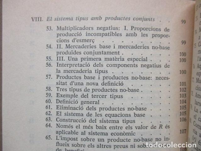Libros de segunda mano: Producció de mercaderies per mitjà de mercaderies Piero Sraffa Ed 62 Clàssics del pensament modern - Foto 13 - 263100240