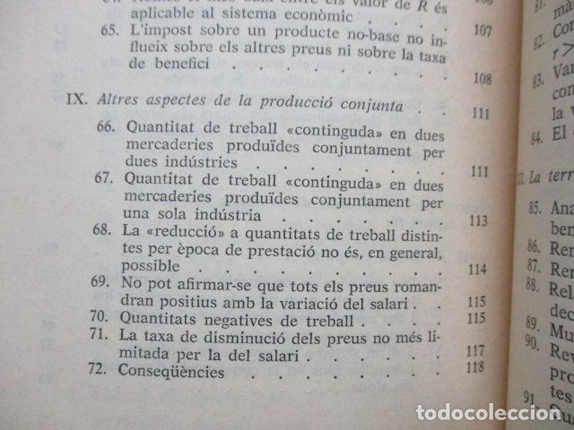 Libros de segunda mano: Producció de mercaderies per mitjà de mercaderies Piero Sraffa Ed 62 Clàssics del pensament modern - Foto 14 - 263100240