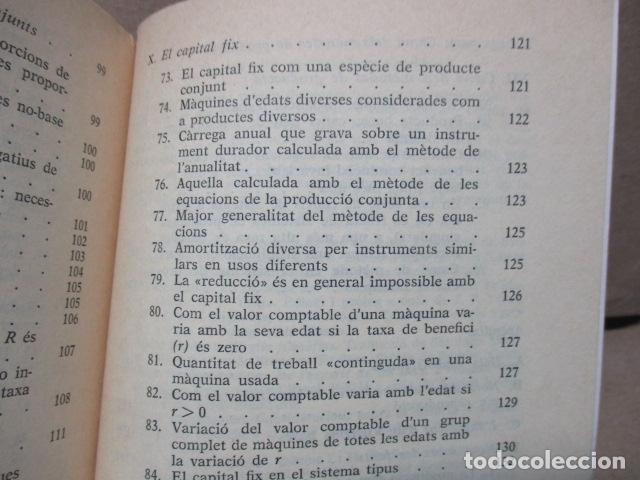 Libros de segunda mano: Producció de mercaderies per mitjà de mercaderies Piero Sraffa Ed 62 Clàssics del pensament modern - Foto 15 - 263100240