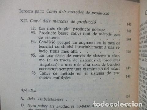 Libros de segunda mano: Producció de mercaderies per mitjà de mercaderies Piero Sraffa Ed 62 Clàssics del pensament modern - Foto 17 - 263100240