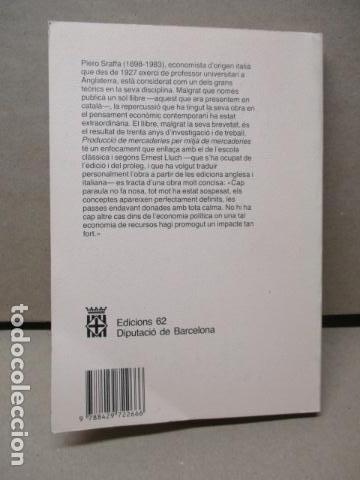 Libros de segunda mano: Producció de mercaderies per mitjà de mercaderies Piero Sraffa Ed 62 Clàssics del pensament modern - Foto 19 - 263100240