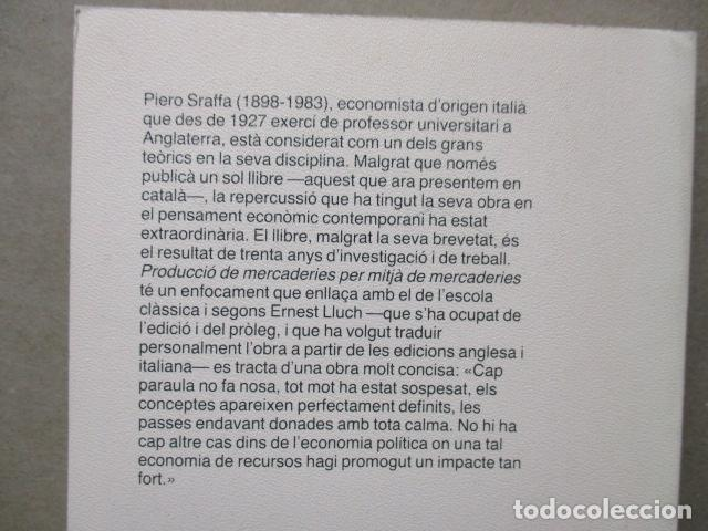 Libros de segunda mano: Producció de mercaderies per mitjà de mercaderies Piero Sraffa Ed 62 Clàssics del pensament modern - Foto 20 - 263100240