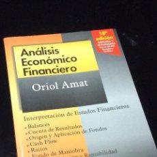 Libros de segunda mano: ANALISIS ECONOMICO FINANCIERO. Lote 111173659