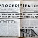 Libros de segunda mano: PROCEDIMIENTOS- BODAS DE PLATA DE DERECHO DE 1909. Lote 112209003