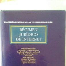 Libros de segunda mano: REGIMEN JURIDICO DE INTERNET (INCLUYE CD) - JAVIER CREMADES, MIGUEL ÁNGEL FERNÁNDEZ ORDOÑEZ. Lote 112788455