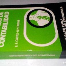 Libros de segunda mano: PRINCIPIOS DE CONTABILIDAD-E F CASTLE- N P OWENS-MANUALES PARA DIRECCIÓN DE EMPRESAS-EDAF 1978. Lote 112838711
