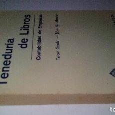 Libros de segunda mano: TENEDURIA DE LIBROS-CONTABILIDAD DE EMPRESAS-TERCER GRADO-LIBRO DEL MAESTRO-EDELVIVES 1960. Lote 112888207