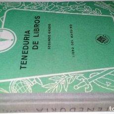 Libros de segunda mano: TENEDURIA DE LIBROS-2ª GRADO-LIBRO DEL MAESTRO-EDELVIVES-ZARAGOZA 1949. Lote 112889823