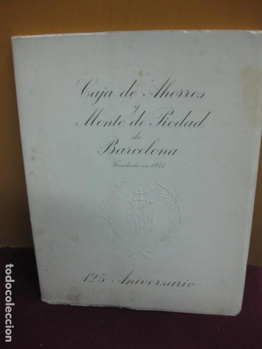 MEMORIA CAJA DE AHORROS Y MONTE DE PIEDAD DE BARCELONA. 125 ANIVERSARIO. 1969. (Libros de Segunda Mano - Ciencias, Manuales y Oficios - Derecho, Economía y Comercio)