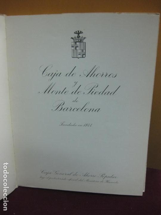 Libros de segunda mano: MEMORIA CAJA DE AHORROS Y MONTE DE PIEDAD DE BARCELONA. 125 ANIVERSARIO. 1969. - Foto 2 - 113064047
