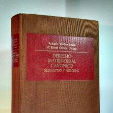 Libros de segunda mano: DERECHO MATRIMONIAL CANÓNICO. SUSTANTIVO Y PROCESAL. MOLINA MELIÁ, A. ISBN 8473983734.. Lote 113134007