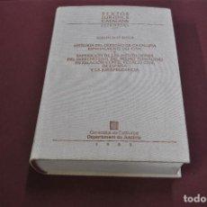 Libros de segunda mano: TEXTOS JURÍDICS CATALANS - GUILLEM DE BROCÀ - HISTORIA DEL DERECHO DE CATALUÑA - 1985 - DR1. Lote 113319087