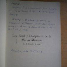 Libros de segunda mano - LEY PENAL Y DISCIPLINARIA DE LA MARINA MERCANTE 22 DICIEMBRE 1955 - 113392207