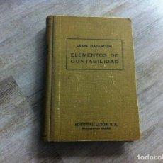 Libros de segunda mano: LEON BATARDON. ELEMENTOS DE CONTABILIDAD. ED. LABOR, 1945. Lote 114275651