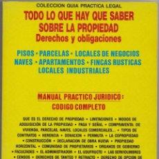 Libros de segunda mano: LA VIVIENDA DE PROPIEDAD. MANUAL PRÁCTICO JURÍDICO: CÓDIGO COMPLETO.. Lote 114386743