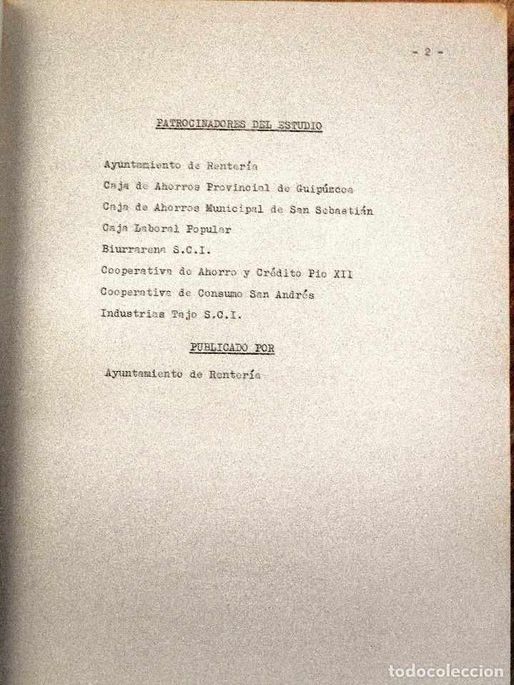 Libros de segunda mano: EL PUEBLO DE RENTERÍA EN 1970 - GAUR SCI AÑO 1971 - PUBLICADO POR EL AYUNTAMIENTO DE RENTERÍA - Foto 6 - 114537783