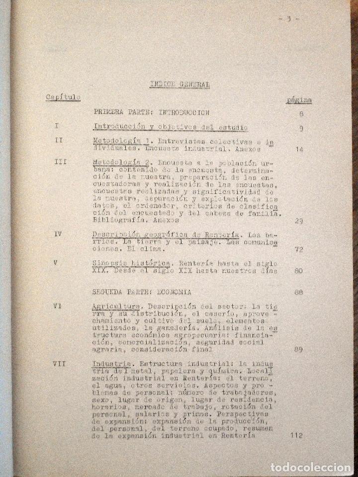 Libros de segunda mano: EL PUEBLO DE RENTERÍA EN 1970 - GAUR SCI AÑO 1971 - PUBLICADO POR EL AYUNTAMIENTO DE RENTERÍA - Foto 7 - 114537783