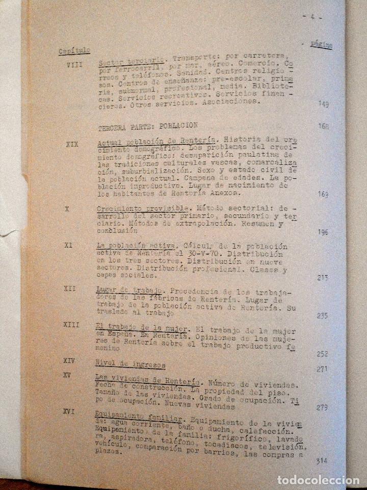 Libros de segunda mano: EL PUEBLO DE RENTERÍA EN 1970 - GAUR SCI AÑO 1971 - PUBLICADO POR EL AYUNTAMIENTO DE RENTERÍA - Foto 8 - 114537783