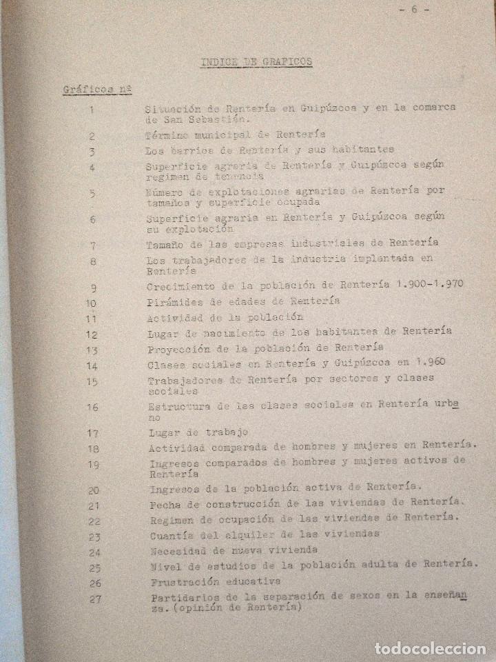 Libros de segunda mano: EL PUEBLO DE RENTERÍA EN 1970 - GAUR SCI AÑO 1971 - PUBLICADO POR EL AYUNTAMIENTO DE RENTERÍA - Foto 10 - 114537783
