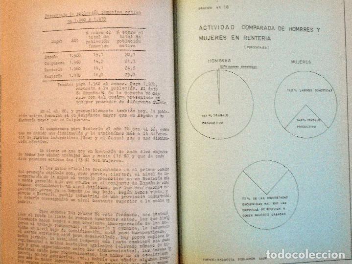 Libros de segunda mano: EL PUEBLO DE RENTERÍA EN 1970 - GAUR SCI AÑO 1971 - PUBLICADO POR EL AYUNTAMIENTO DE RENTERÍA - Foto 12 - 114537783