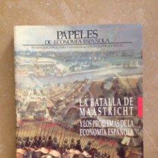 Libros de segunda mano: PAPELES DE ECONOMÍA ESPAÑOLA 52 / 53 (1992) LA BATALLA DE MAASTRICHT. Lote 114676594
