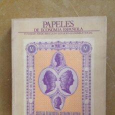 Libros de segunda mano: PAPELES DE ECONOMÍA ESPAÑOLA 32 (1987) SISTEMA FINANCIERO: SITUACIÓN ACTUAL. Lote 114677080